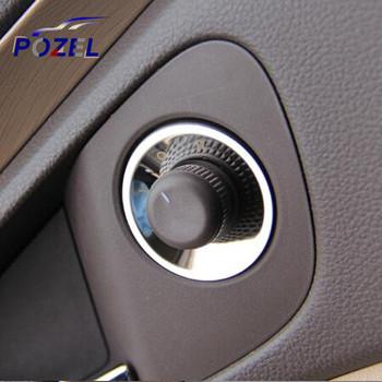 Stainless Steel rearview mirror knob decorative circle Sticker For Chevrolet Cruze Malibu AVEO Opel mokka ASTRA J Insignia Car