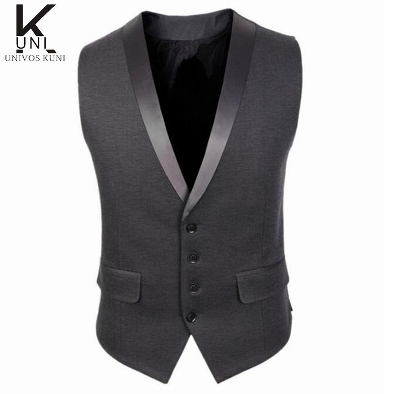 2016 new brand dress vests for men slim fit mens suit vest