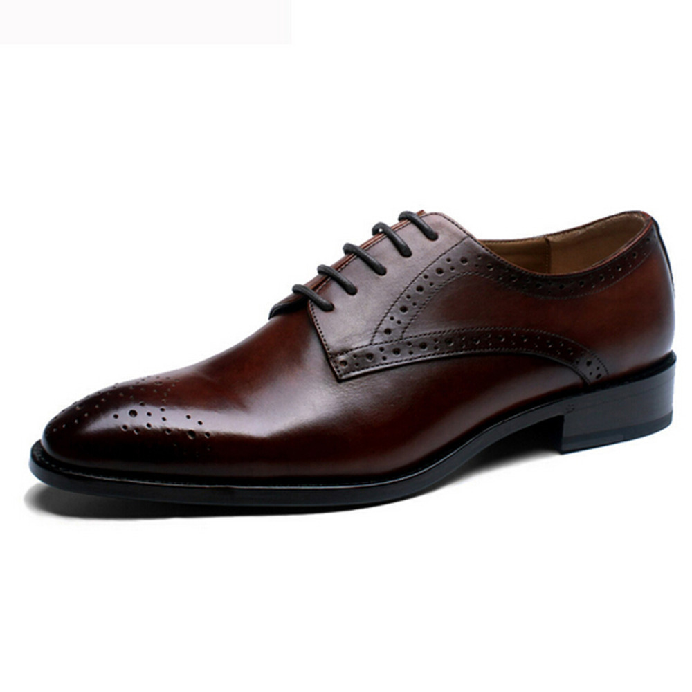 Customize Italian Style Handmade Mens Carved Genuine Leather Shoes Goodyear Round Toe Lace up Dress Wedding Prom Oxfords Shoes<br><br>Aliexpress