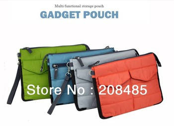 Quality Nylon Fabric Digital Organizer Bag for Ipad/Make-up organizer bag in bag/Gadget Pouch 4 colors to choose