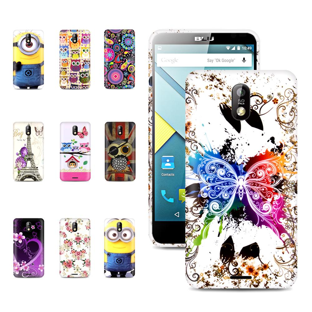 Factory price ! Blu phone case Gossly Printed TPU Soft Gel Case Back Case For Blu studio G silicon Case cover with Gift(China (Mainland))