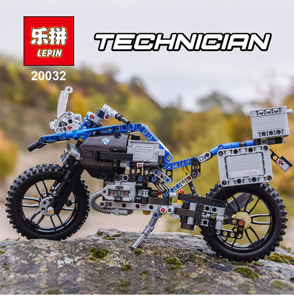 Lepin 20032 Compatible Legod Technic The BMW Off-road Motorcycles 42063 Building Blocks Model Toys For Children