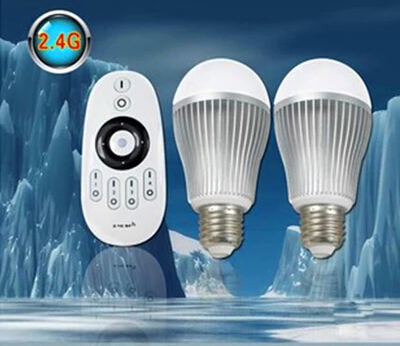 Factory direct WiFi control ball bubble lamp 2.4G packet remote control bulb 85~265V wide voltage 6W(China (Mainland))