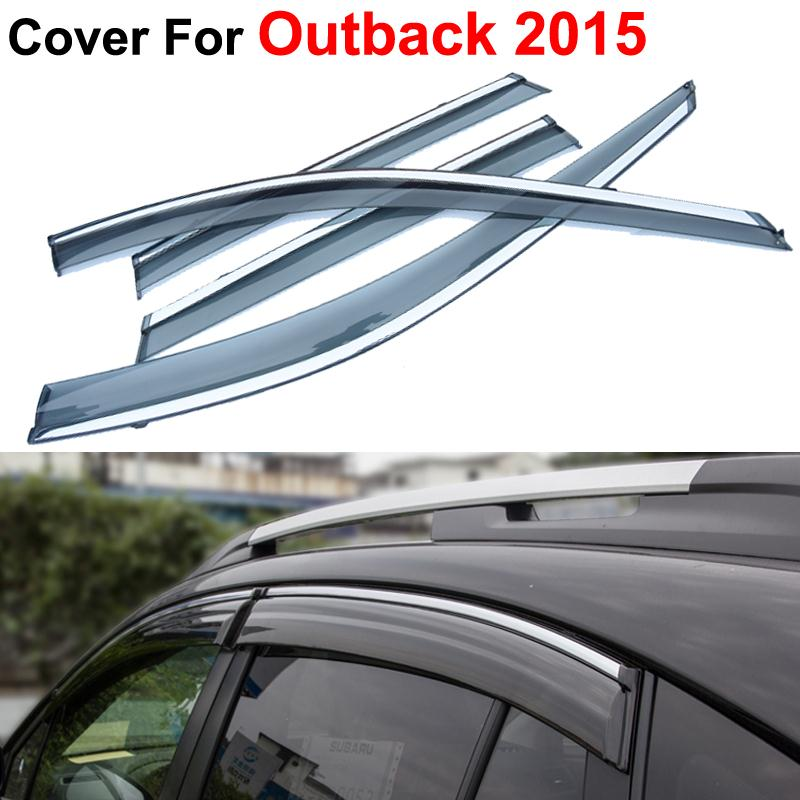 4pcs/lot Car Stylingg Awning Shelters Rain Sun Window Visors For Subaru Outback 2015 Covers Stickers Accessories Shield<br><br>Aliexpress