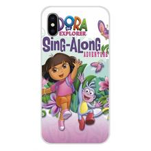 Voor LG G3 G4 Mini G5 G6 G7 Q6 Q7 Q8 Q9 V10 V20 V30 X Power 2 3 K10 k4 K8 2017 Silicone Skin Case Dora De Explorer Laarzen Cartoon(China)