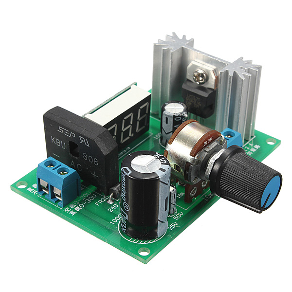 New DIY Electric Unit High quality LM317 Adjustable Voltage Regulator Step Down Power Supply Module With LED Meter(China (Mainland))