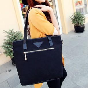 2013 Hot Selling! Fashion Women Black Handbag Extra Large Black Tote Bags Canvas Handbag(China (Mainland))