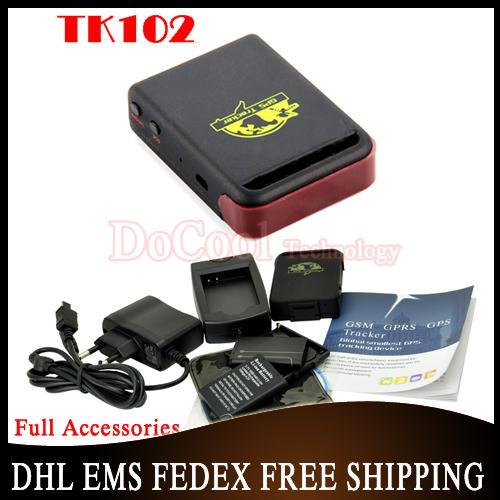 Free DHL 10 pieces hot sell 2015 Upgrade TK-102 TK102 Mini Global Real Time 3bands GSM/GPRS/GPS Tracking Device(China (Mainland))