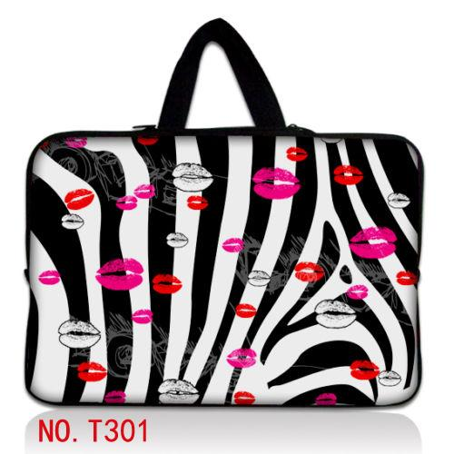 "Zebra Lips 14"" Up to 100 Designs Laptop Sleeve Bag Case+ Hide Handle For 14"" 14.1"" 14.5"" PC(China (Mainland))"