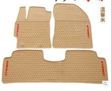 Automobile(3/p) Rubber Floor Mats Water proof rubber foot pad automobile Environmental protectionwear for  TOYOTA corolla(China (Mainland))