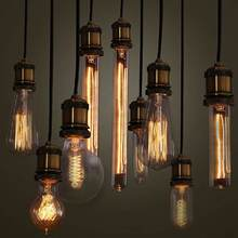 Buy Vintage Edison Lamp Bulb E27 Incandescent Light 60W Retro Tungsten Filament Candle Light Warm White Lighting Fixture 110/220V for $2.47 in AliExpress store