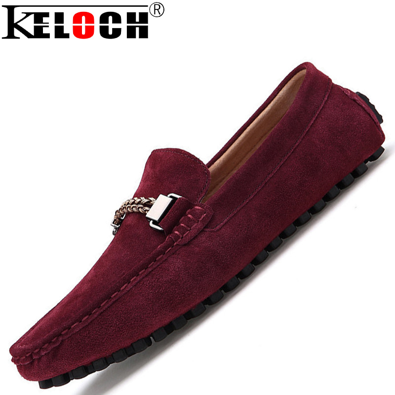 New Moccasin Men Loafers Suede Genuine Leather Men Casual Shoes Oxford Shoes For Men Flats Driving Shoes Man Sapato Masculino