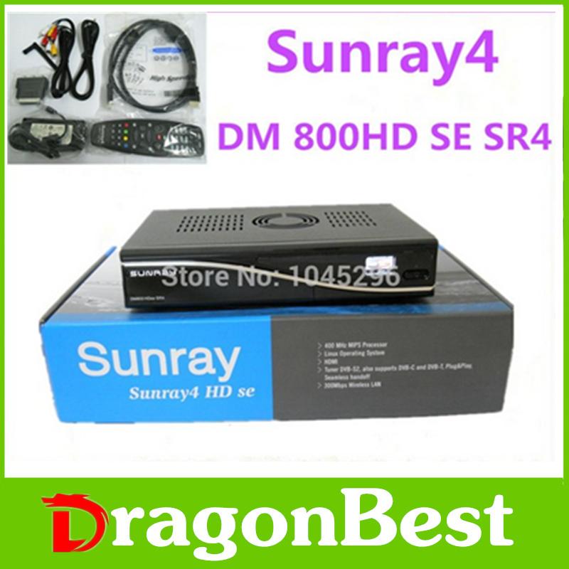 3pcs /lot wholesale Digital Satellite Receiver Sunray4 800hd se sr4 Rev D11 Three in One Triple tuner DVB S(S2)/C/T 300Mbps WIFI(China (Mainland))