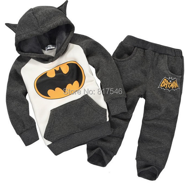 2014 New Autumn Batman Kids Tracksuit baby Boys/girls Clothing Sets Toddlers children Suits Hood Coat + pants - Love Naccy's store