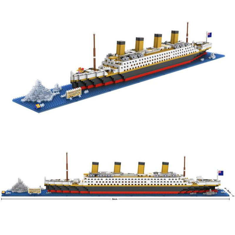LOZ RMS Titanic Ship 3D Building Blocks Toy Titanic Boat 3D Model Educational Gift Toy for Children Q086(China (Mainland))