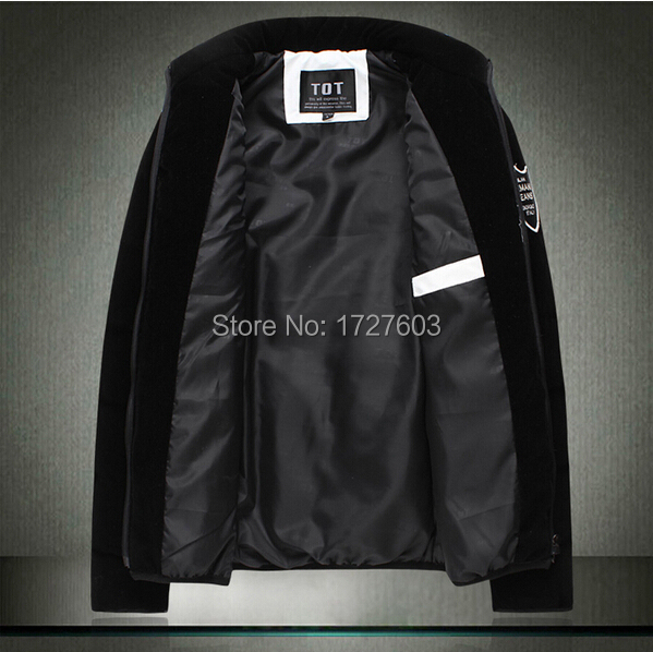 NEW 2014 Winter Men s Clothes Brand Men Down Jackets Plus Size Cotton Mens Wadded Jacket