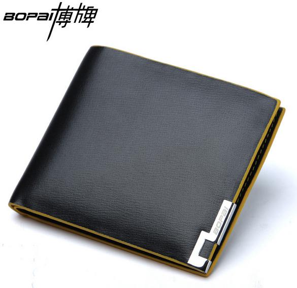 100 Genuine Leather brand short purse soft cowhide leather wallet brand new men wallet short purses