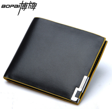 100 Genuine Leather brand short purse soft cowhide leather wallet brand new men wallet short purses