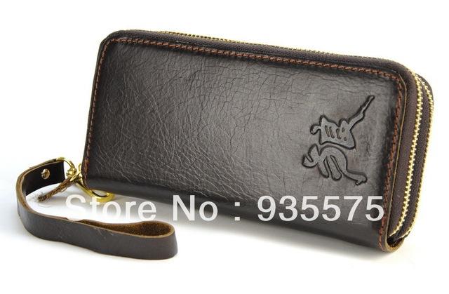prada purses and handbags - Men Vintage Genuine Leather Clutch Wallet Double Zip Around Purse ...