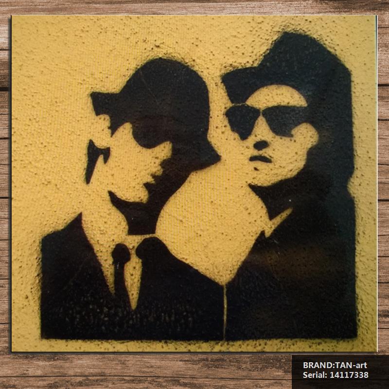 Stencil Graffiti at Staromiejska Street in szczecin polen canvas pop art giclee filmposter canvas Portrait Abstract14117338(China (Mainland))