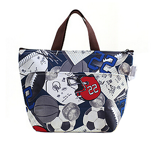 2015 Highly Commend Lunch Box Bag Tote Insulated Cooler Carry Bag,soccer(China (Mainland))