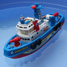 Fire Boat Electric Boat Children Electric Toy Navigation Non-remote Warship Kids Toy Baby Gifts(China (Mainland))