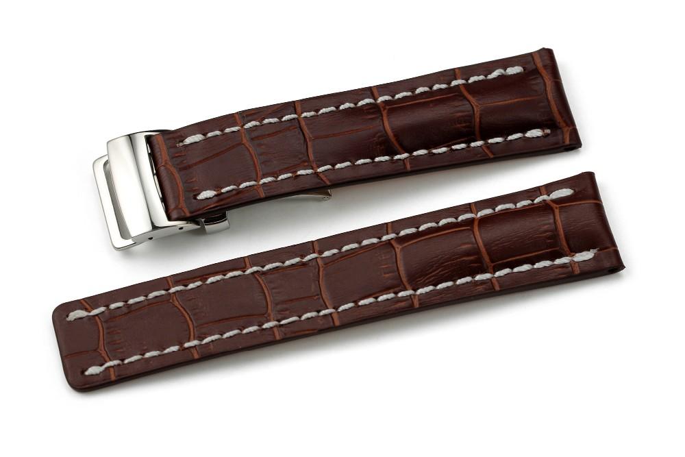 22 мм 24 мм Смотреть Band ремешок Крокодиловый Натуральная Кожа Браслет Ремешок Для Breitling Развертывания Застежка Мужчины