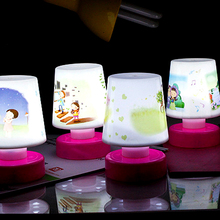 Cartoon Pat Design LED Changing Table Lamp Night Light Lamps Toy Kids Gift  NVIE(China (Mainland))