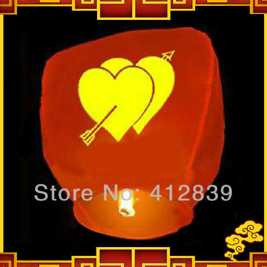 Free shipping,2pcs/lot Weeding party Sky Lantern Wishing Lanterns,Flying Light for valentine's day,Factory Direct Sale