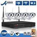 1TB HDD 4CH H 264 NVR CCTV System Plug And Play 720P HD 2 Array IR