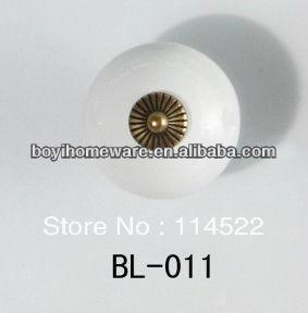 New design white ceramic knobs furniture handles knobs wardrobe and cupboard knobs drawer dresser knobs cabinet pulls BL-011