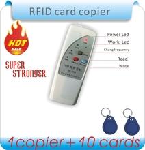 Versandkostenfrei 4 frequenz rfid Kopierer/duplizierer/cloner id em Leser& writer+ 10 stück em4305 beschreibbar schlüsselanhänger(China (Mainland))