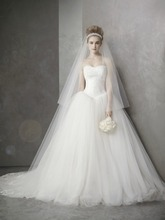 3 meters classic soft tulle long train wedding veil one layers Bridal Veils(China (Mainland))