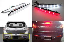 Buy 2X CLEAR Lens LED Bumper Reflector Tail Brake Light 10-13 Mazda3 Axela Sport for $17.88 in AliExpress store