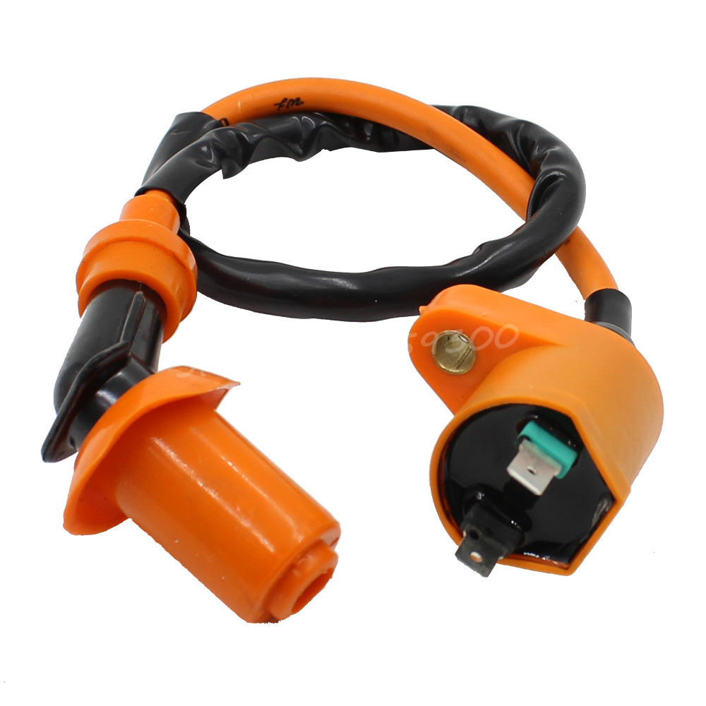 High Performance Orange Racing Spark Plug Ignition Coil For GY6 50cc 125cc 150cc Moped Scooter Go Kart ATV Quads(China (Mainland))