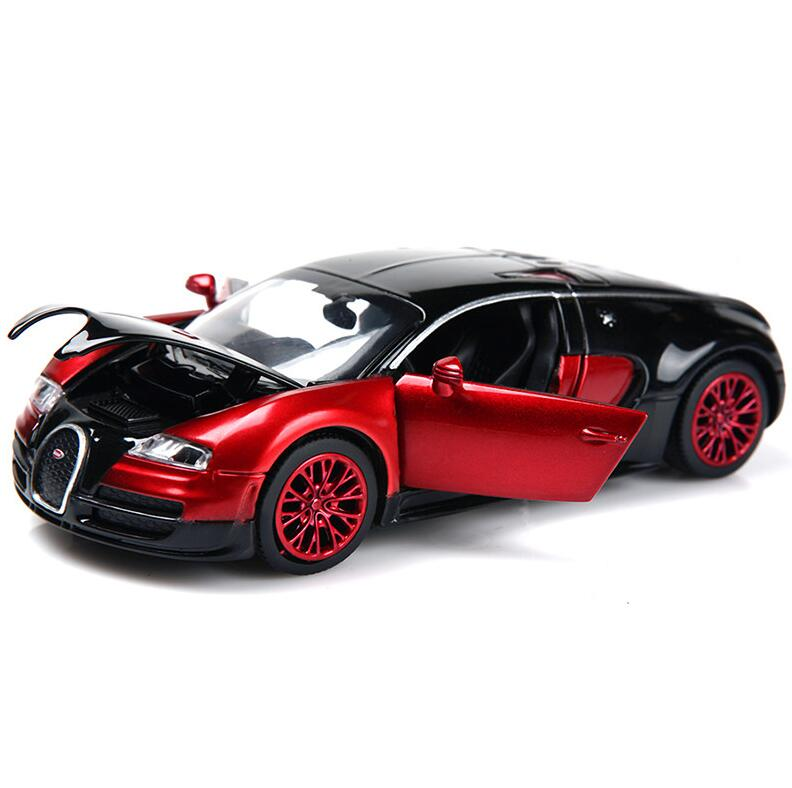 1:32 Scale Bugatti Veyron Alloy Diecast Car Model Pull Back Toy Cars Electronic Car Kids Toys Gifts(China (Mainland))