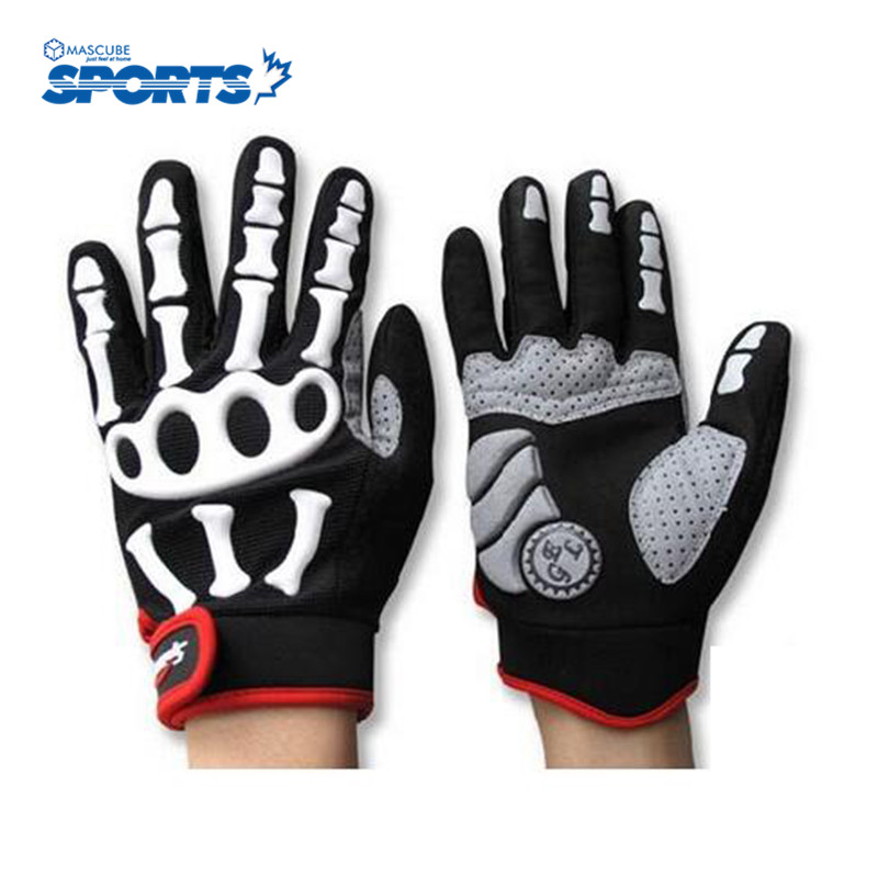 High Top Cycling Equipment New hot Style Skull Bone Riding Gloves Winter Gloves Mountain Bike Bicycle Sport Outdoor(China (Mainland))