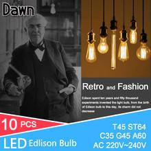 Buy 10pcs Lampada LED Edison Bulb Lamp Light Vintage Home Lighting Filament 220V Rope Pendant Lamp Retro Luminaria Edison LED Bulb for $10.97 in AliExpress store