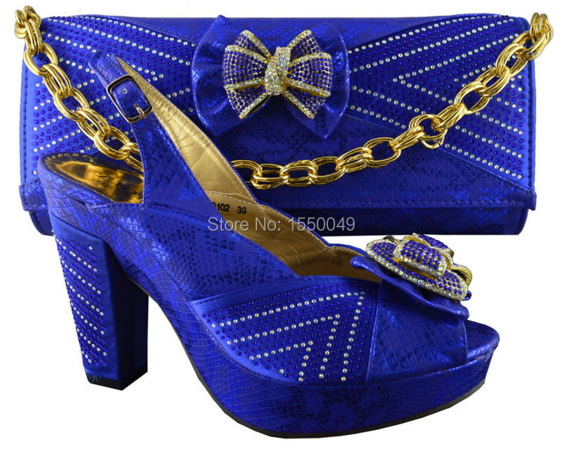 2015 New design and hot-selling ladies italy matching shoe and handbag set size 38-42,B8012 royal blue<br><br>Aliexpress