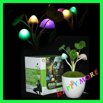 Free Shipping Christmas Avatar LED Mushroom Night Light Ceramic Energy Saving automatic light control desk lamp house decoration