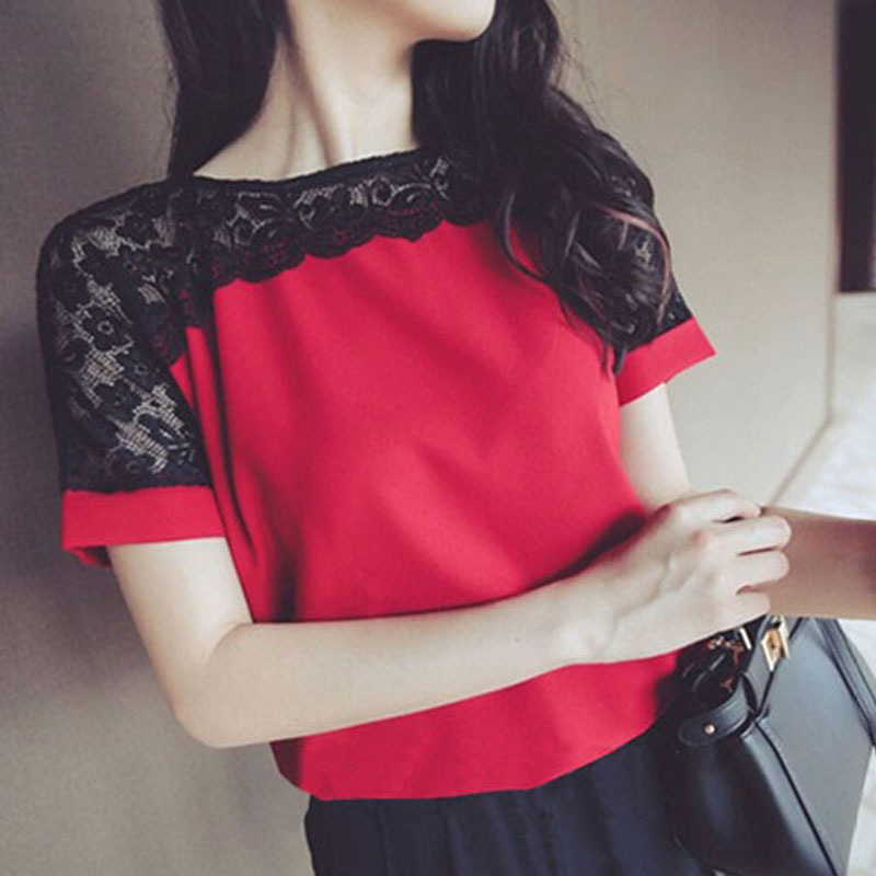 Блузка с кружевом купить недорого