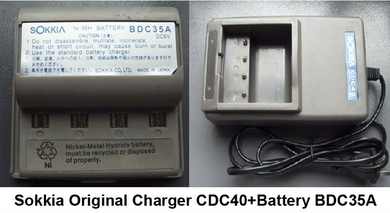 New Sokkia High Quality TOP Battery  BDC35A with Original Charger CDC40  for SOKKIA  Surveying