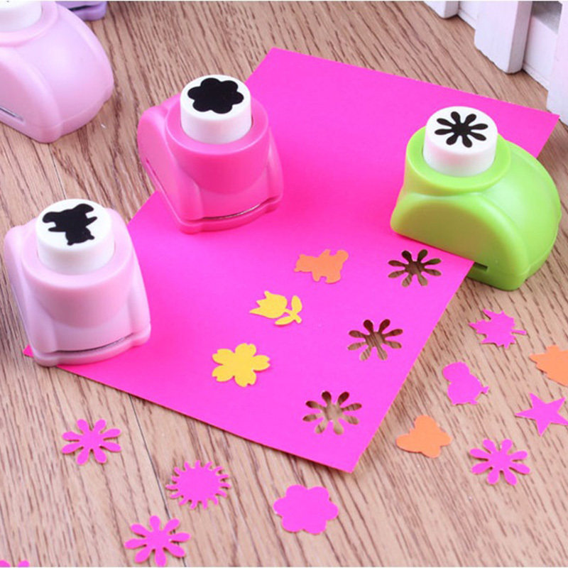 1 PCS Kid Child Mini Printing Paper Hand Shaper Scrapbook Tags Cards Craft DIY Punch Cutter