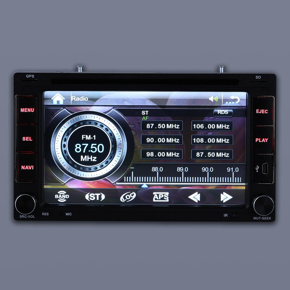 "6.2"" 2 Din Car DVD/USB/SD Player GPS Navigation Bluetooth Radio Multimedia HD Entertainment System for Car Universal(China (Mainland))"