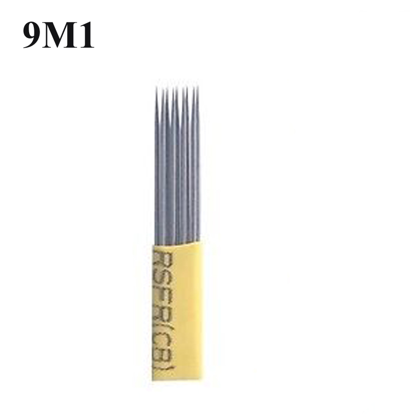 50pcs DOUBLE ROW Microblading Needles 9M1 shading baldes fog eyebrow tattoo tools