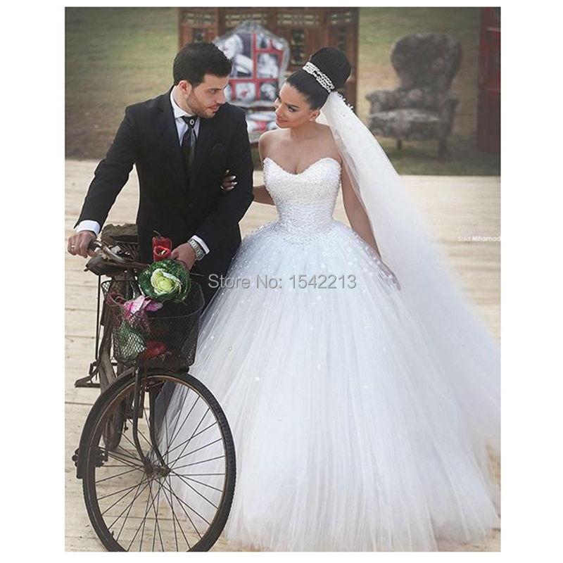Сказал Mhamad Свадебное Платье Аппликация Бисером Принцесса Невесты Платья Vestido Де Novia 2016