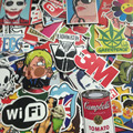 100 pcs mixed decal Car Styling Skateboard Laptop Luggage Snowboard Car Fridge Phone DIY Vinyl Decal