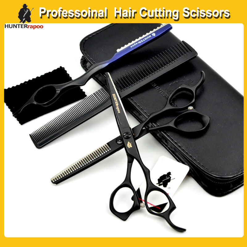 Black Color 6 inch Professional Barber Cutting Scissors Japan Steel hair dressing Scissors Kit Haircut shears for hairdresser