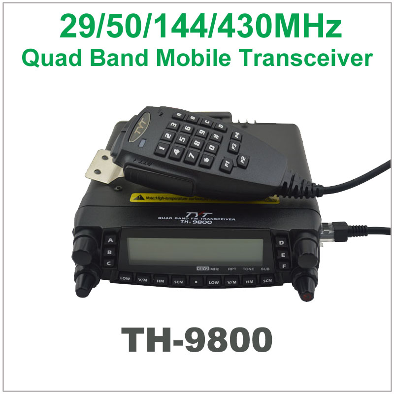 Hot TYT TH-9800 29/50/144/430MHz Quad bands Mobile Transceiver with 50W Output Power,Scrambler,cross-band Repeater Mobile Radio(China (Mainland))