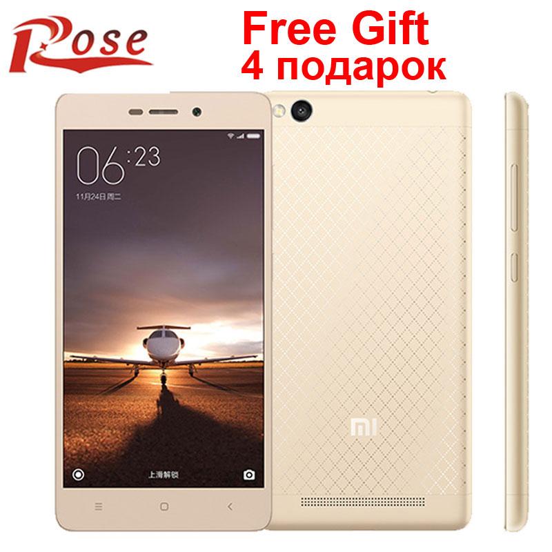 Original Xiaomi Redmi 3 2015811 version Metal Body Mobile Phone Snapdragon 616 Octa Core FDD LTE 2G RAM 16G ROM 1280X720 13MP(China (Mainland))
